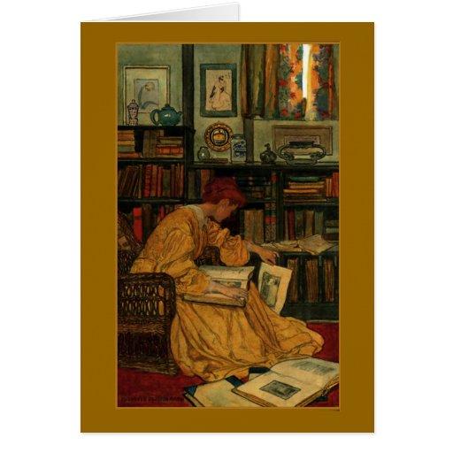 En la biblioteca tarjetón