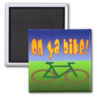 ¡En la bici de Ya! El ciclo va las emisiones cero  Imanes
