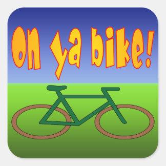 ¡En la bici de Ya! El ciclo va las emisiones cero Colcomania Cuadrada