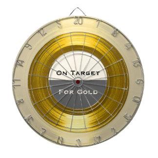 En la blanco para el oro - un Dartboard de
