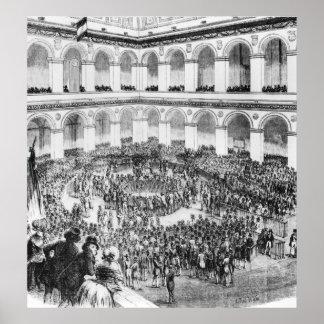 En la bolsa de París, 1846 Posters