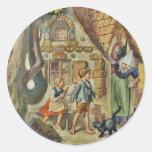 En la cabaña de la bruja pegatina redonda