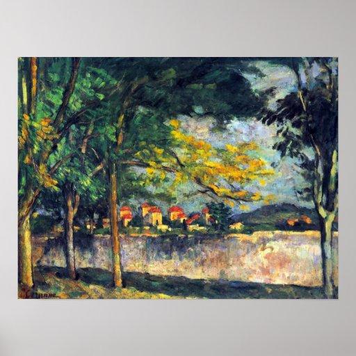 En la calle de Paul Cezanne Póster