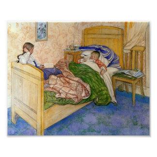 En la cama 1908 de la momia impresión fotográfica