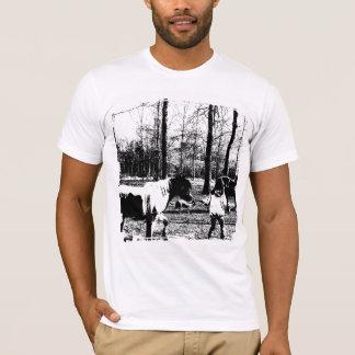 En la camiseta de la granja