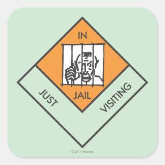 En la cárcel apenas que visita pegatina cuadrada