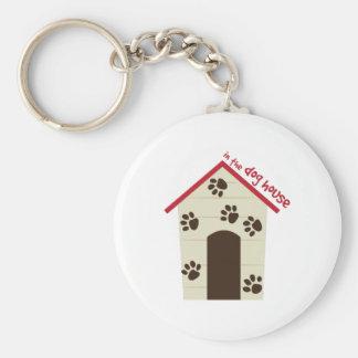En la casa de perro llaveros personalizados