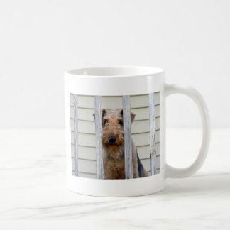 """En la caseta de perro "" Taza De Café"
