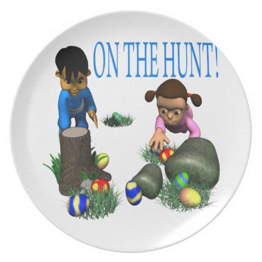 En la caza platos