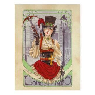 En la caza - postal 1890 de Londres