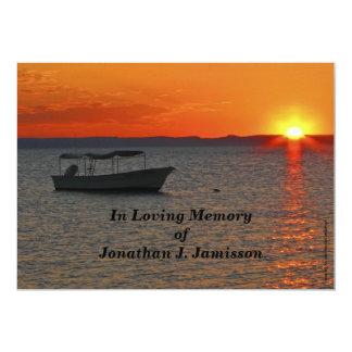 """En la celebración cariñosa de la memoria del barco invitación 5"""" x 7"""""""