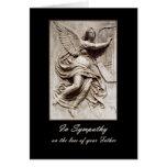 En la condolencia - pérdida de padre - ángel con l felicitacion