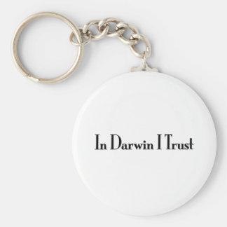 En la confianza de Darwin I Llavero Redondo Tipo Pin