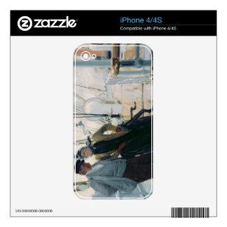 En la cubierta (aceite en lona) calcomanías para el iPhone 4S