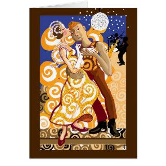 En la danza tarjeta de felicitación
