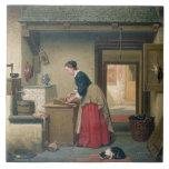 En la despensa, 1868 (aceite en el panel) azulejo