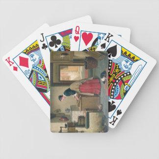 En la despensa, 1868 (aceite en el panel) cartas de juego