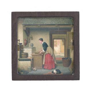 En la despensa, 1868 (aceite en el panel) cajas de joyas de calidad