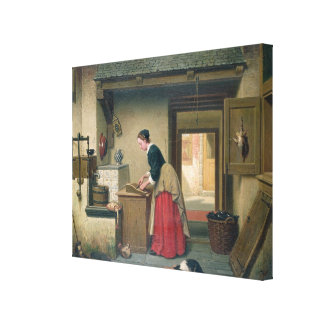 En la despensa, 1868 (aceite en el panel) impresiones en lona estiradas