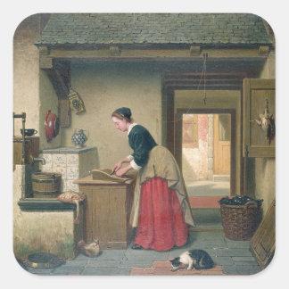 En la despensa, 1868 (aceite en el panel) pegatina cuadrada