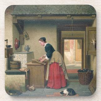 En la despensa, 1868 (aceite en el panel) posavaso