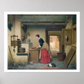 En la despensa, 1868 (aceite en el panel) póster