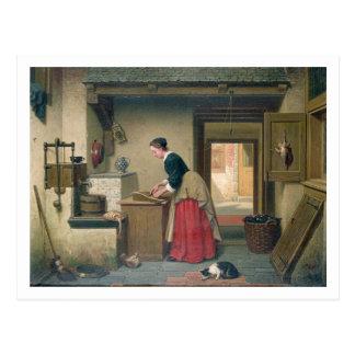 En la despensa, 1868 (aceite en el panel) postal