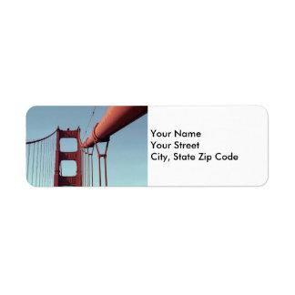 En la etiqueta del remite de puente Golden Gate Etiquetas De Remite