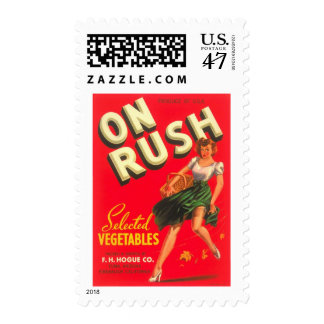 En la etiqueta vegetal del cajón de la sello postal
