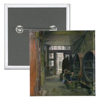 En la fábrica del vinagre en Hamburgo, 1891 Pin Cuadrada 5 Cm