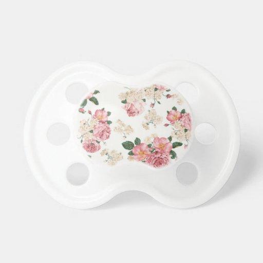 En la floración. Impresión floral de la primavera Chupetes De Bebé
