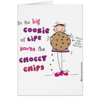 En la galleta grande de la vida usted es los micro felicitación