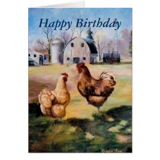 En la granja (2) tarjeta de felicitación