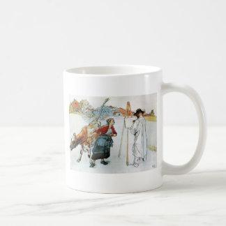 En la granja taza de café