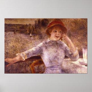 En la Grenouillere by Pierre Renoir Posters