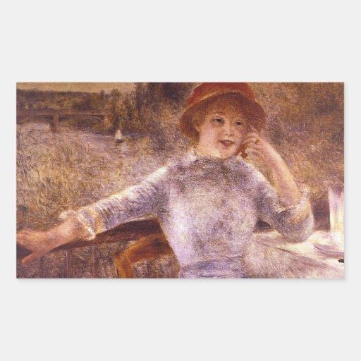 En la Grenouillere by Pierre Renoir Rectangle Sticker