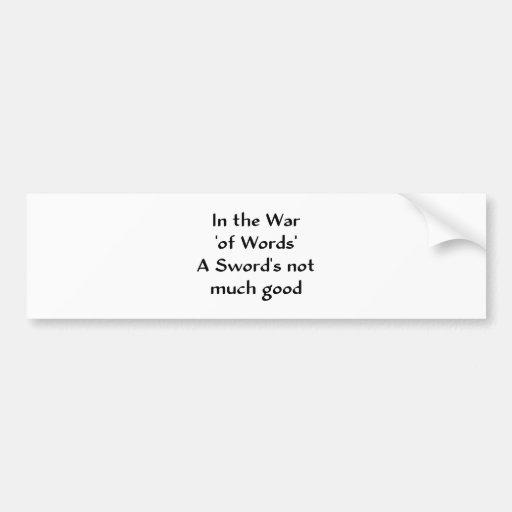 En la guerra 'de las palabras pegatina para auto