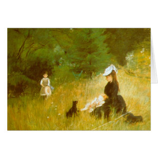 En la hierba de Berthe Morisot Tarjeton