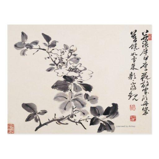 En la imitación de las flores No.5 de Xu Wei Postales
