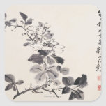En la imitación del ½ del ¿de Xu Weiï s florece Pegatina Cuadrada