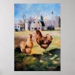 En la impresión del poster de la granja