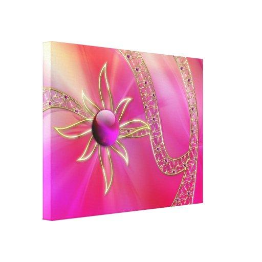En la impresión radiante de la lona del esplendor lienzo envuelto para galerias