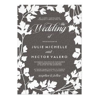 En la invitación del boda del jardín de hierbas