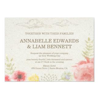 En la invitación del boda del verano del prado invitación 12,7 x 17,8 cm