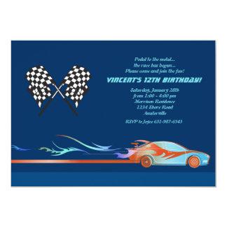 En la invitación del circuito de carreras invitación 12,7 x 17,8 cm