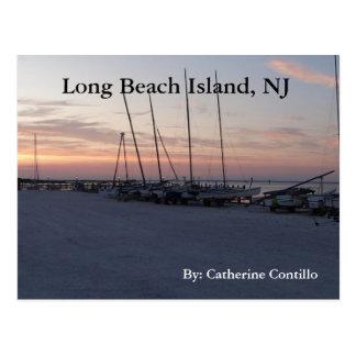 En la isla NJ de Long Beach por la bahía Postal