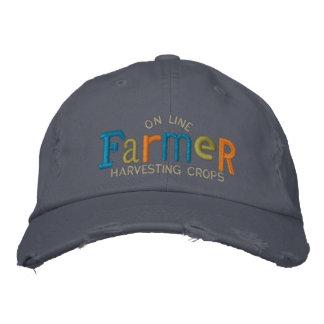 En la línea granjero personalice el gorra del bord gorras bordadas