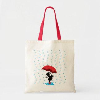 En la lluvia bolsa lienzo