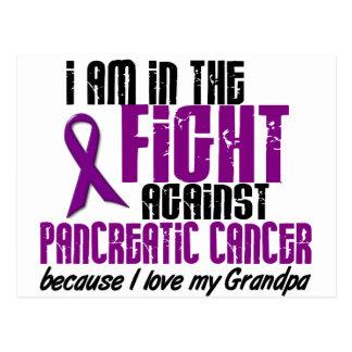 En la lucha contra ABUELO del cáncer pancreático Tarjeta Postal