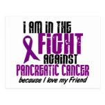 En la lucha contra AMIGO del cáncer pancreático Tarjeta Postal